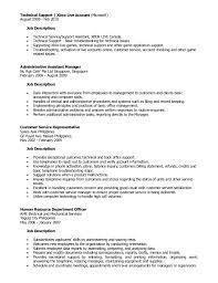 Tech Support Job Description Resume Resume Example Free Resume