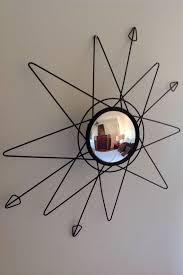 mid century starburst mirror 1950s e c g s co vintage wall art sputnik mirror
