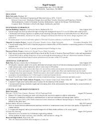 Mechanical Engineer Resume Amazing Resume Mechanical Engineering Senior