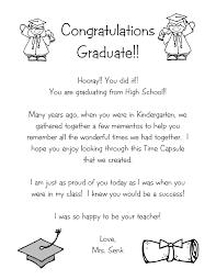 time capsule letter kindergarten nana kelly
