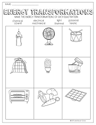 Energy Transformations Worksheets | science interactive notebook ...