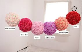 Rose Balls For Wedding Decorations