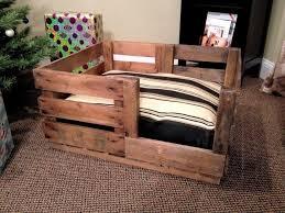 image of pallet wooden dog beds