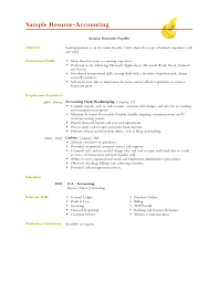 Cover Letter Sample Of Accounting Resume Sample Of Accounting Resume
