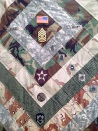 Military Career quilt. Cut up an old uniform and saved patches and ... & Custom Military Uniform Quilt by AuntAnniesStitches on Etsy Adamdwight.com