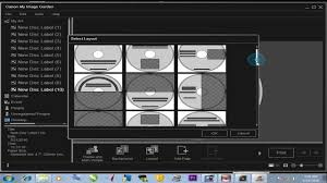how to print cd on canon printer