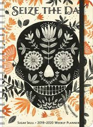 17 Month Calendar Sugar Skull 2019 2020 On The Go Weekly Planner 17 Month Calendar With Pocket