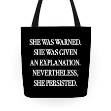 She Persisted Quote Classy She Was Warned She Was Given An Explanation Nevertheless She