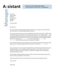 Cover Letter For Assistant Restaurant Manager Restaurant Assistant