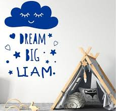 dream big wall decal personalised with