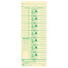 weekly time card tops weekly time card 9 x 3 5 sheet size manila 100 pack