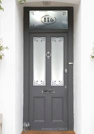 etched glass c3 borders with house number malton exterior door