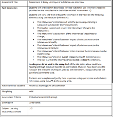 Snpg939 Essay Critique Of Substance Use Interview University Of
