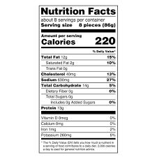 Walmart Deli Nutrition Chart Great Value Breaded Popcorn Chicken 25 5 Oz Walmart Com