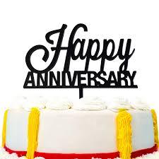 Jennygems Happy Wedding Anniversary Cake Topper Amazoncom Grocery