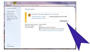 How To Update Windows 7 Installing Windows Updates On A Windows 7 Machine Division Of