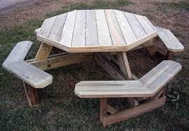 cedar picnic table diy best octagon picnic tables octagon picnic table for outdoor area