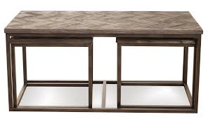 ... Coffee Tables, Outstanding Brown Rectangle Ancient Wood Nesting Coffee  Tables Idea As The Furniture Of ...