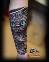 тату чеширский кот фото