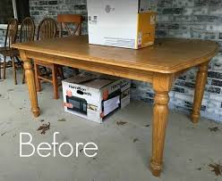 rustic farmhouse table makeover with