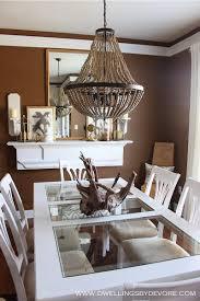 world market wood bead chandelier