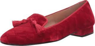 French Sole Nicky Hilton - Eloise Red Harlequin Velvet 9.5: Amazon ...