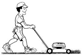 lawn mower logo black and white. cheap lawn mowing \u0026 home services mower logo black and white