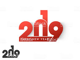 Shiny Red Stylish Text 2019 On White Background For New Year ...
