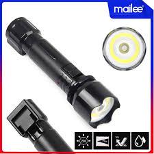 Đèn Pin Sạc Điện, Đèn Bão Led Cầm Tay Sạc Điện 2 Chế Độ Sáng Chống Thấm  Nước Mai Lee - Đèn pin