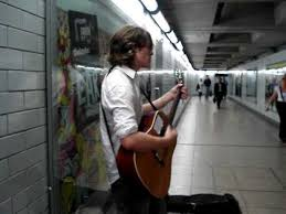Johnny Hood (CK/Dior Model) - Tube Busking - YouTube