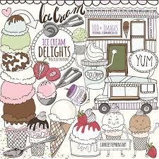 Kawaii Ice Cream Clipart Cute Summer Food Clip Art Sweet Etsy