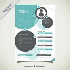 Circles Resume Template Vector Free Download