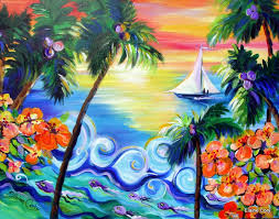 hawaii ocean scenic painting 30 x 40 original by elaine cory