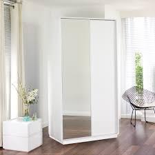 malone sliding mirror door wardrobe white loading zoom