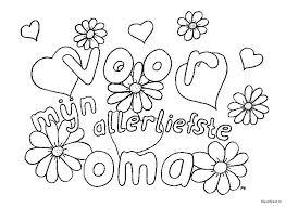 Kleurplaat Verjaardag Liefste Oma Norskiinfo
