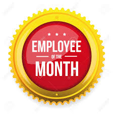 Employee Of The Month Award Employee Of The Month Award Badge Vector