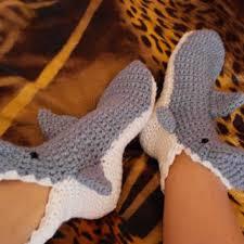 Crochet Shark Slippers Pattern Free Amazing Crochet PATTERN For Shark Slipper Socks From Stacie48 On Etsy