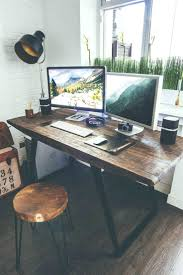excellent desk office. Excellent Industrial Style Designer Workspace By Office Interior Rustic Desk Chairs C