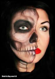 crystal overland of toronto ontario canada is a makeup artist she created these skull makeup looks
