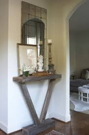 corner tables for hallway. Enhance An Empty Corner With A Vignette Created From Reclaimed Wood Table Topped Tables For Hallway