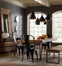 Contemporary Ideas Industrial Dining Room Lighting Majestic Design