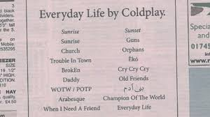 These are not phonetic alphabets as in those used to guide pronounciation, rather they are a selection of alphabets used, particularly by radio operators, to spell out words. Coldplay Reveal New Album Tracks In Local Paper Bbc News