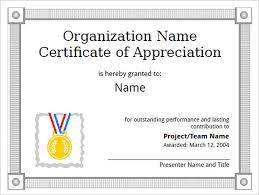Sample Appreciation Certificates Templates Gorgeous Examples Of Certificates Of Appreciation Wording
