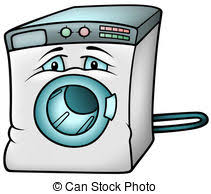 washing machine clipart. Simple Washing Washing Machine  Colored Cartoon Illustration Vector Intended Clipart