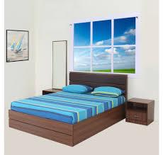 Nilkamal Bedroom Furniture Buy Champion Queen Bedroom Kit Home By Nilkamal Walnut Online