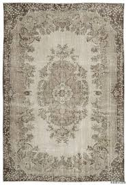 beige over dyed turkish vintage rug 6 7 x 10 79 in x 120 in