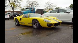 1966 Ford GT40 Mark V in Yellow & Engine Sound of A REAL ONE on My ...