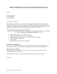 sample letters of termination sample letter termination employment contract employee lv