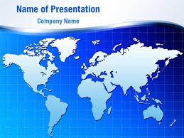 Deep Blue World Map Powerpoint Templates Deep Blue World
