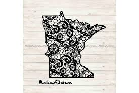 Minnesota State Mandala Svg Mn Lace Dxf Graphic By Mockup Station Creative Fabrica